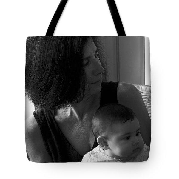 Kiara And Her Ami Tote Bag by Joe Schofield
