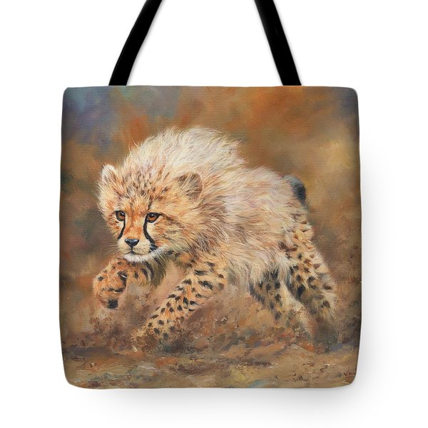 Kicking Up Dust 3 Tote Bag by David Stribbling