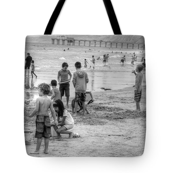 Kids At Beach Tote Bag