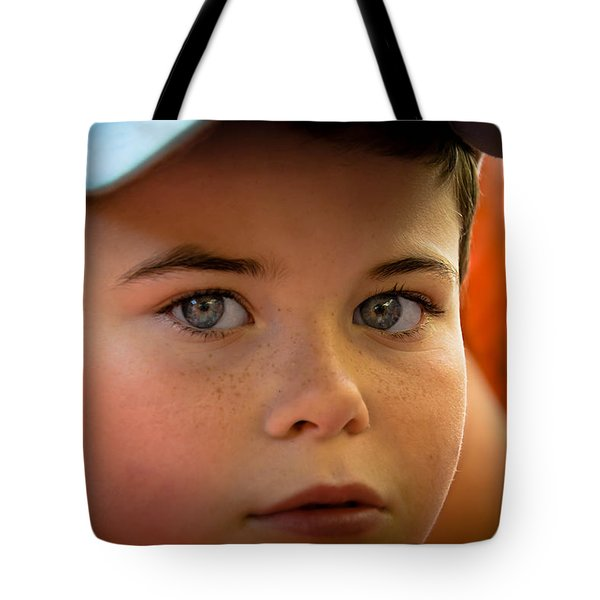 Kid's Blue Eye's Tote Bag by Sotiris Filippou