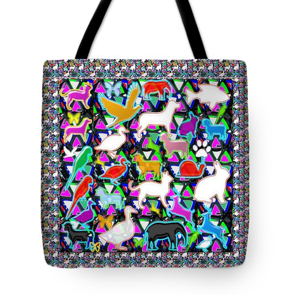 Kids Count The Birds Butterflies N Animals Circle Artistic Navin Joshi Rights Managed Images Graphic Tote Bag by Navin Joshi