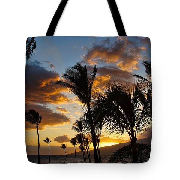 Kihei At Dusk Tote Bag by Peggy Hughes