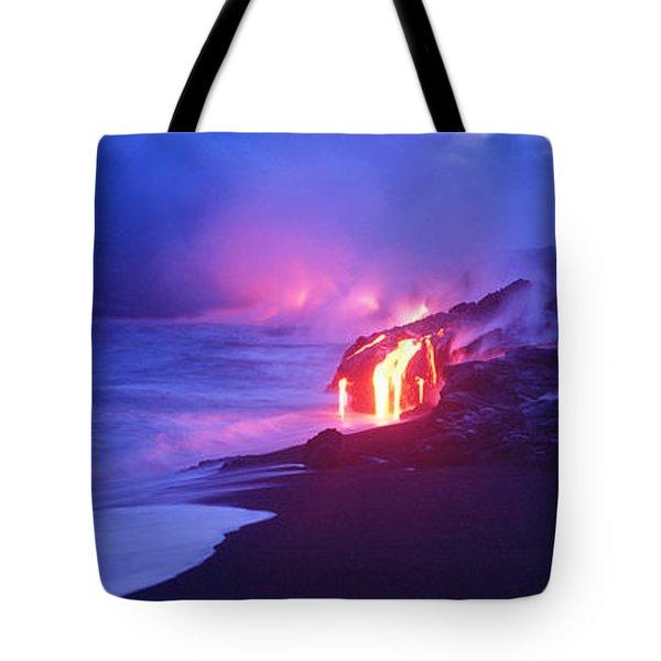 Kilauea Volcano, Hawaii, Usa Tote Bag