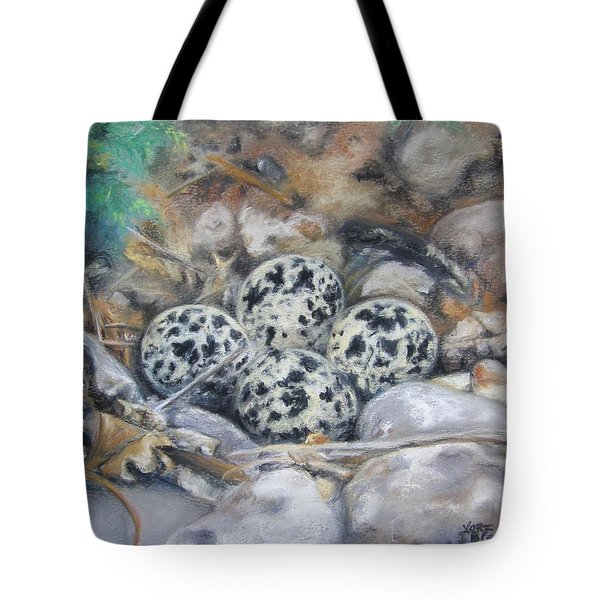 Killdeer Nest Tote Bag by Lori Brackett