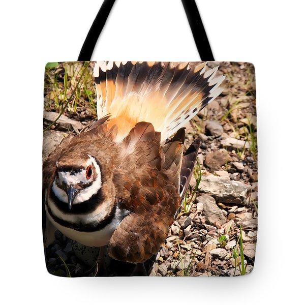 Killdeer On Its Nest Tote Bag