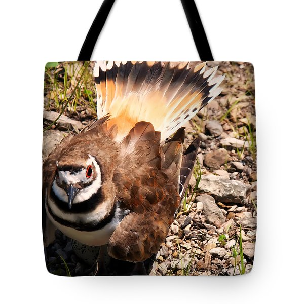 Killdeer On Its Nest Tote Bag