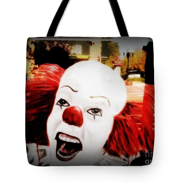 Killer Clowns On The Loose Tote Bag by Kelly Awad
