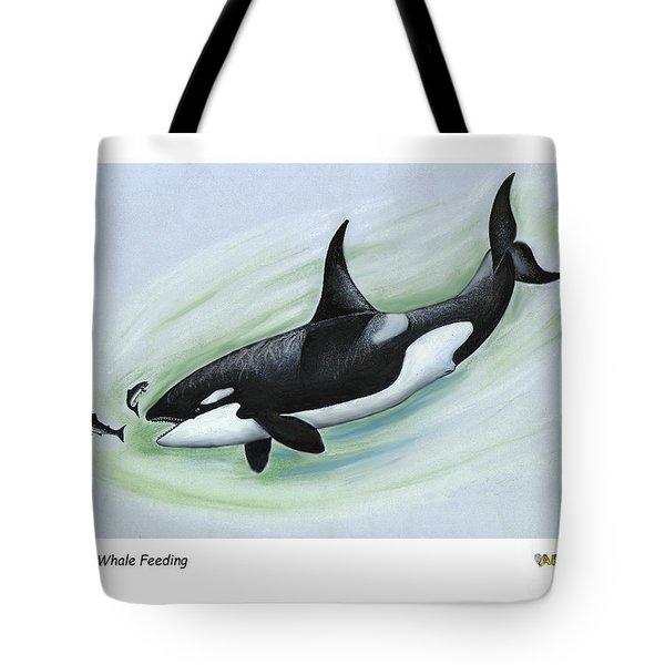 Killer Whale Feeding Tote Bag