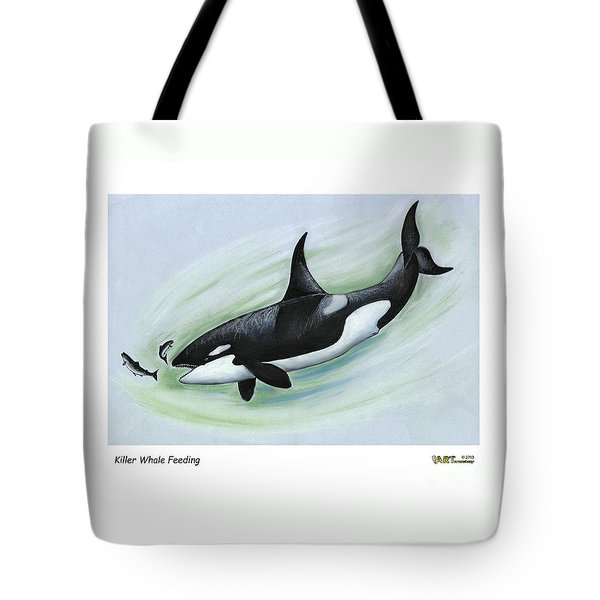 Killer Whale Feeding Tote Bag