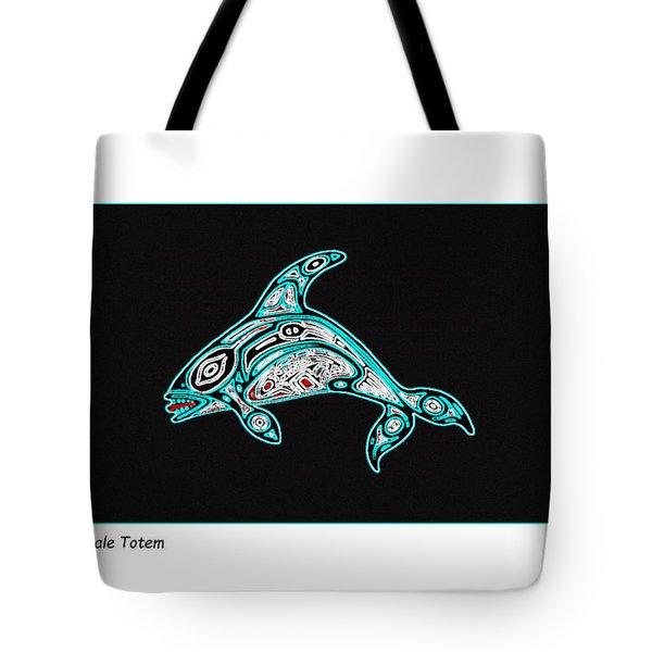 Killer Whale Totem Tote Bag