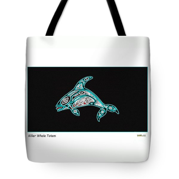 Killer Whale Totem Tote Bag