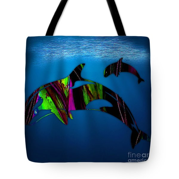 Killer Whales Tote Bag by Marvin Blaine