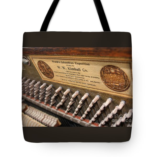 Kimball Piano-3476 Tote Bag by Gary Gingrich Galleries