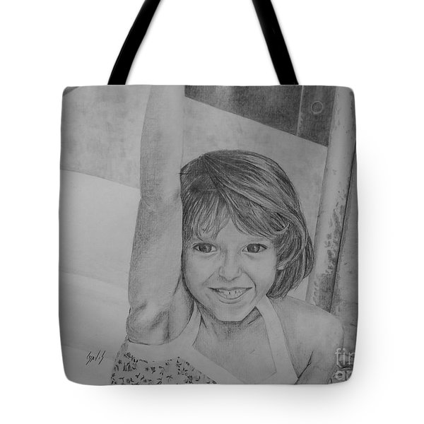 Kimberly In Black And White Tote Bag by Lew Davis