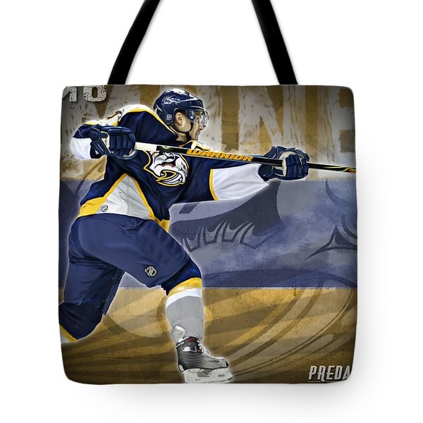 Tote Bag featuring the digital art Kimmo Timonen by Don Olea