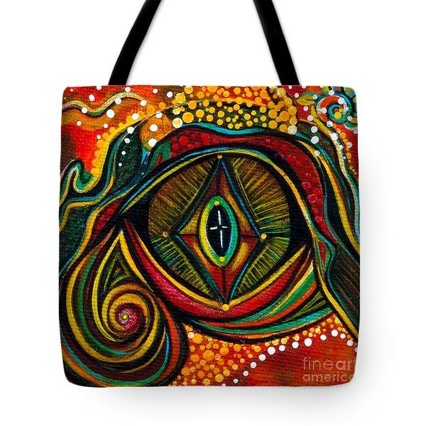 Kindness Spirit Eye Tote Bag by Deborha Kerr