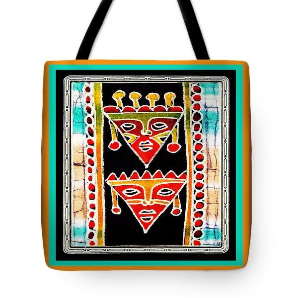 Tote Bag featuring the digital art King And Queen by Vagabond Folk Art - Virginia Vivier