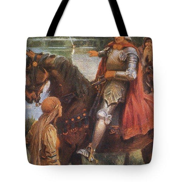 King Arthur & Excalibur Tote Bag