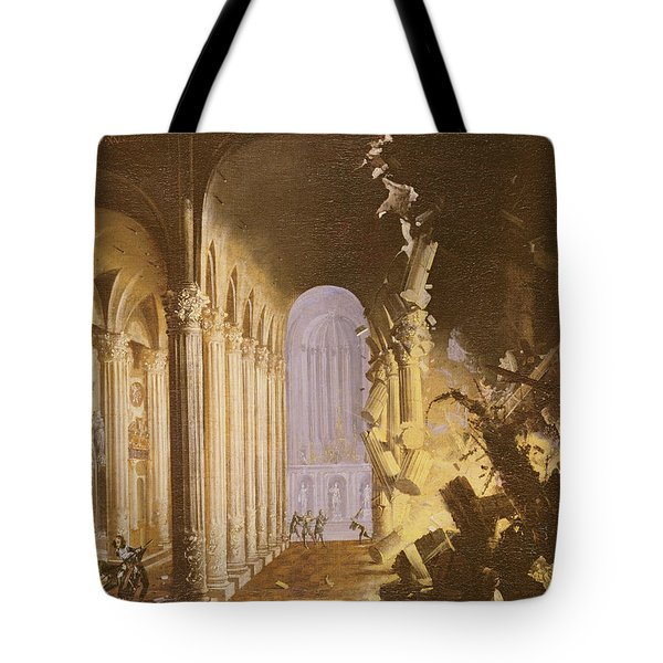 King Asa Of Judah Destroying The Statue Tote Bag by Francois de Nome