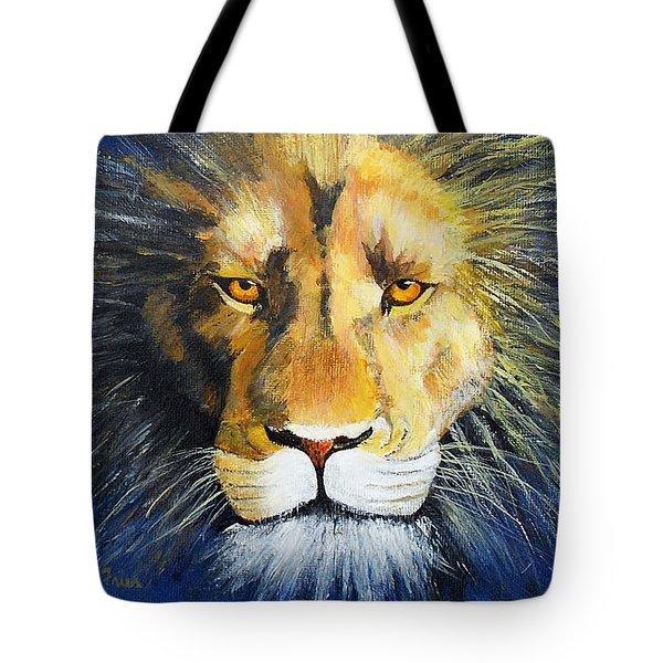 King Cat Tote Bag by Jamie Frier