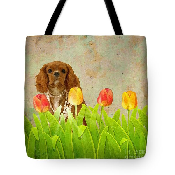King Charles Cavalier Spaniel Tote Bag by Liane Wright