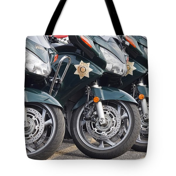 King County Police Motorcycle Tote Bag