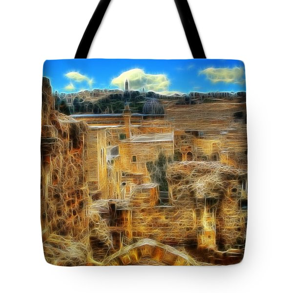 King Davids House Tote Bag by Doc Braham