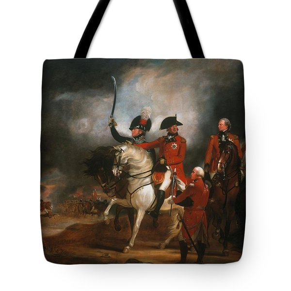 King George IIi And The Prince Of Wales Tote Bag by Sir William Beechey