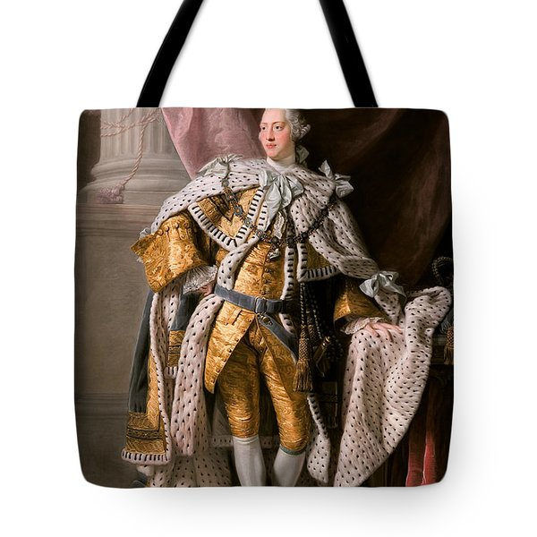Tote Bag featuring the painting King George IIi In Coronation Robes by Celestial Images