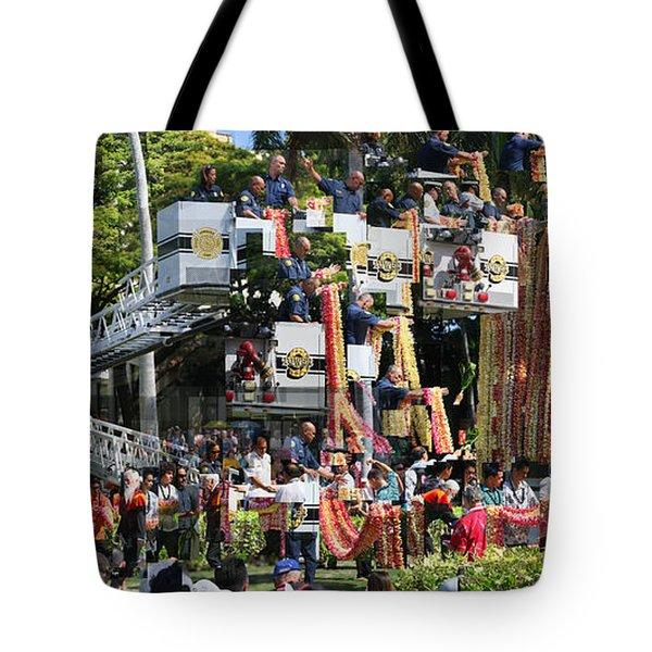 King Kamehameha Draped Tote Bag