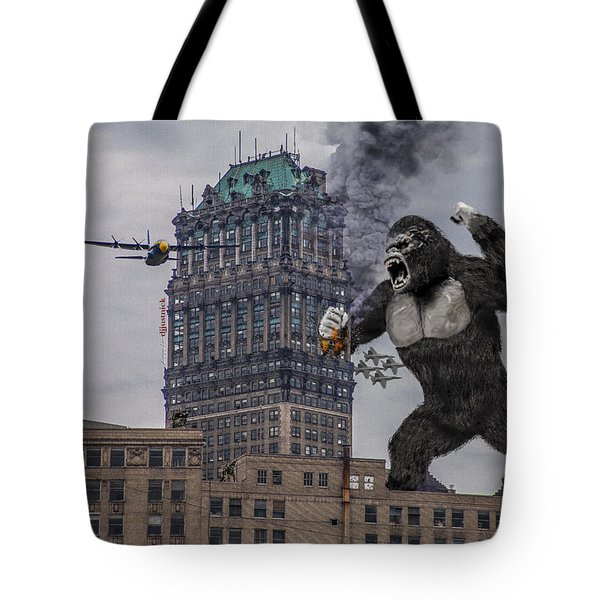 Tote Bag featuring the photograph King Kong In Detroit At Wurlitzer by Nicholas  Grunas
