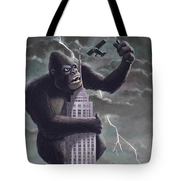 King Kong Plane Swatter Tote Bag