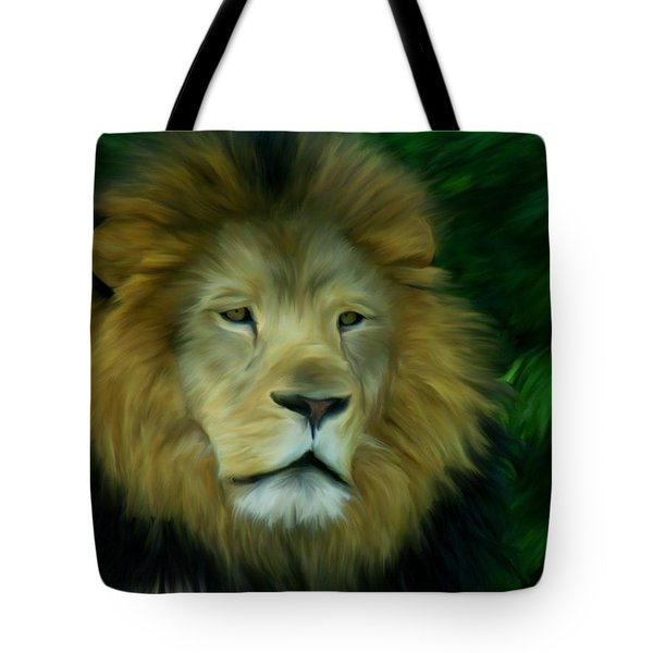Tote Bag featuring the painting King by Maria Urso