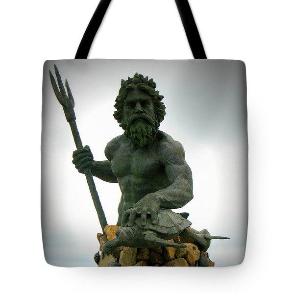 King Neptune Statue Tote Bag
