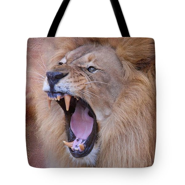 Tote Bag featuring the photograph King Of Beasts by Dyle   Warren