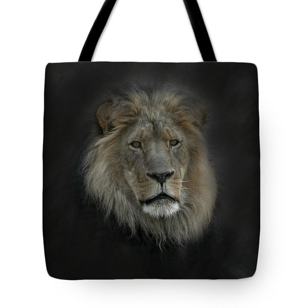 King Of Beasts Portrait Tote Bag