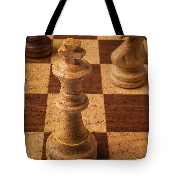 King Of Chess Tote Bag by Garry Gay
