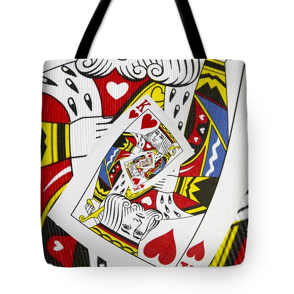 King Of Hearts Collage Tote Bag
