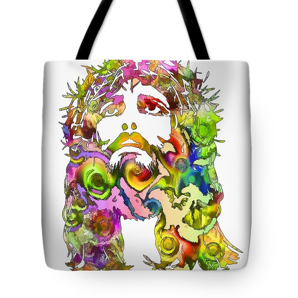 Tote Bag featuring the painting King Of Not Of This World by Dave Luebbert
