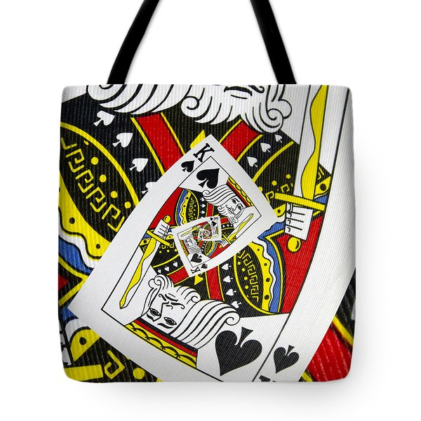 King Of Spades Collage Tote Bag