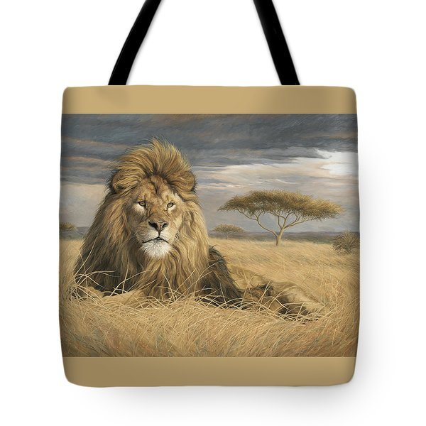 King Of The Pride Tote Bag by Lucie Bilodeau