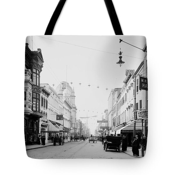 King Street In Charleston South Carolina Circa 1910 Tote Bag
