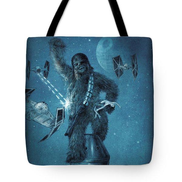 King Wookiee Tote Bag by Eric Fan