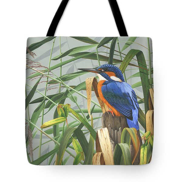 Kingfisher Tote Bag by Clive Meredith