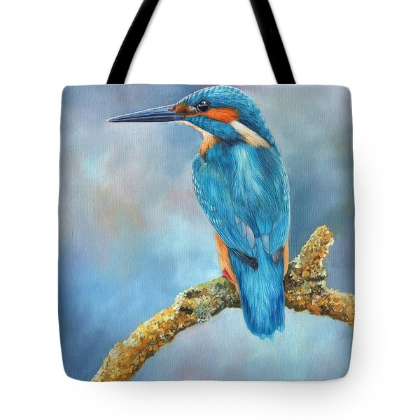 Kingfisher Tote Bag by David Stribbling