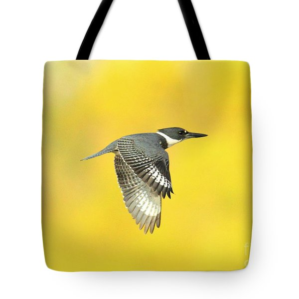 Kingfisher On Gold Tote Bag