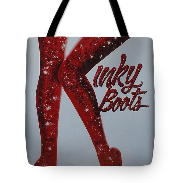 Kinky Boots Tote Bag by Natalie Ortiz