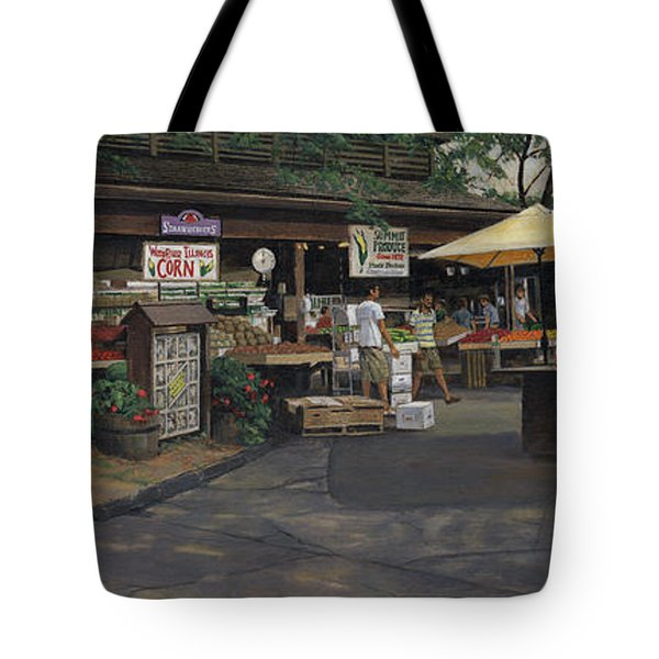 Kirkwood Farmer's Market Tote Bag by Don  Langeneckert