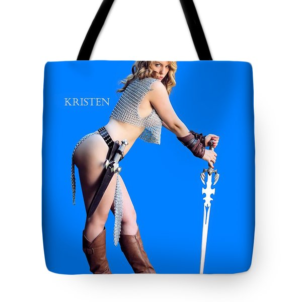 Kirsten Vgirl Pinup Tote Bag