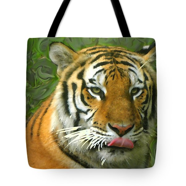 Tote Bag featuring the photograph Kisa Painted by Sandi OReilly